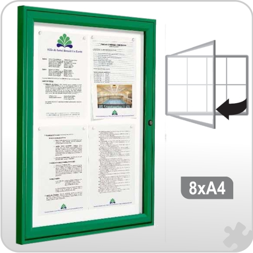 8 x A4 Notice board - Coloured