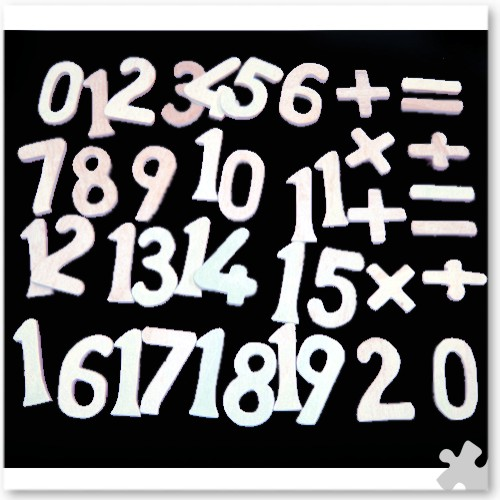 Numbers and Symbols Drawing Templates