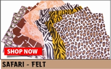 Safari print felt
