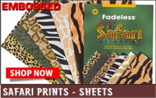 Safari prints embossed paper