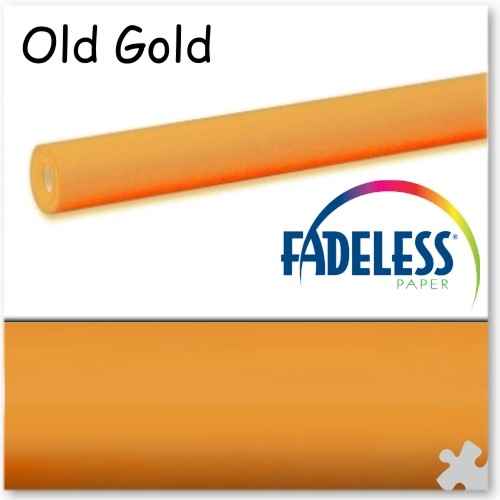 Old Gold Fadeless Display Paper, 15m Roll