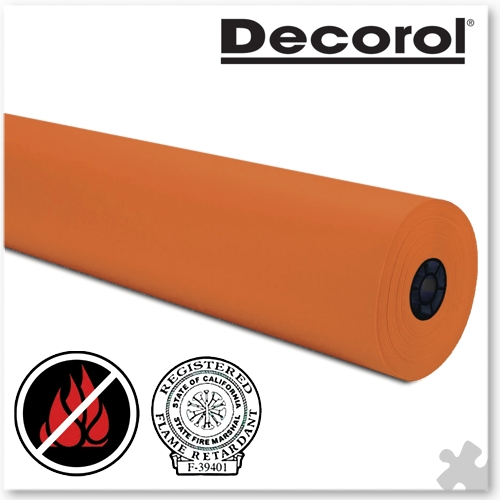 Orange Flame Retardant Paper, Extra Large Roll