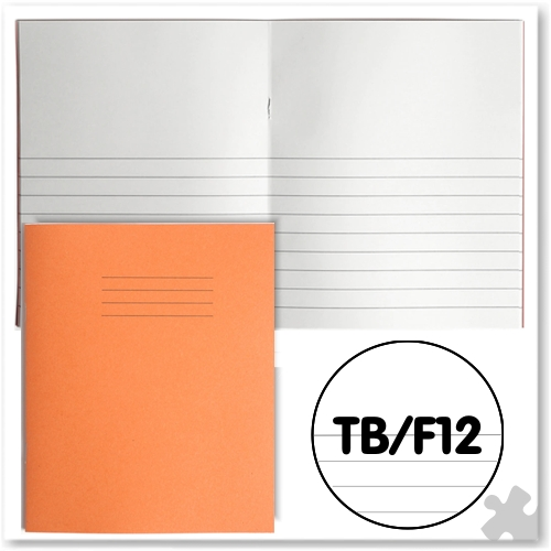 "Orange Project Books 8""x 6.5"" - Plain & 12mm Ruled"