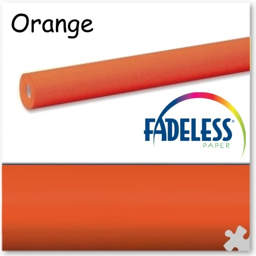 15m Roll of Orange Fadeless Display Paper