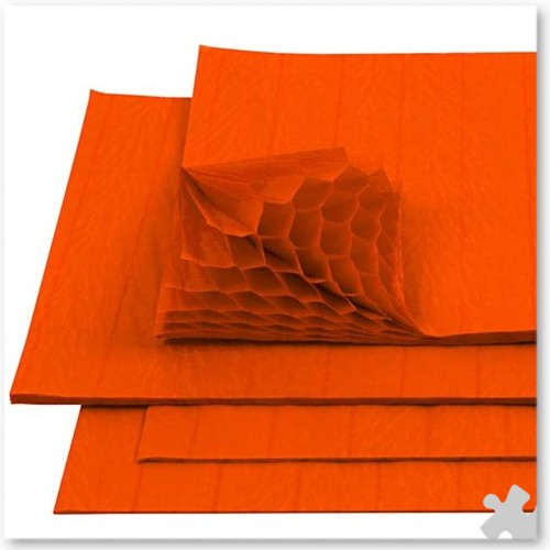 Orange Honeycomb Paper