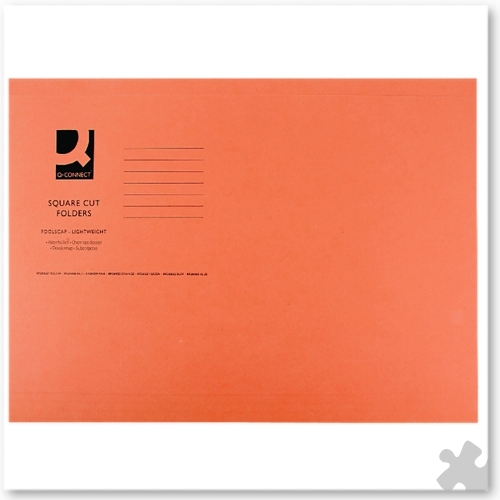 Square Cut Light Weight Folders, 100 Orange