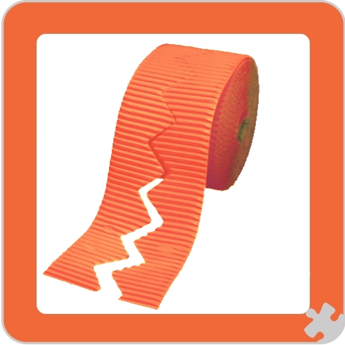 Orange Bordette Border Rolls, Zig Zag Edge