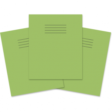 "Project Books 8""x6.5"" Pack of 100 1/2 8mm Ruled Light Green"