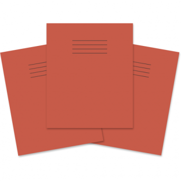 "Project Books 8""x6.5"" Pack of 100 1/2 15mm Ruled Red"
