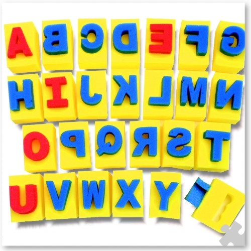 Capital Letter Sponges with Handles