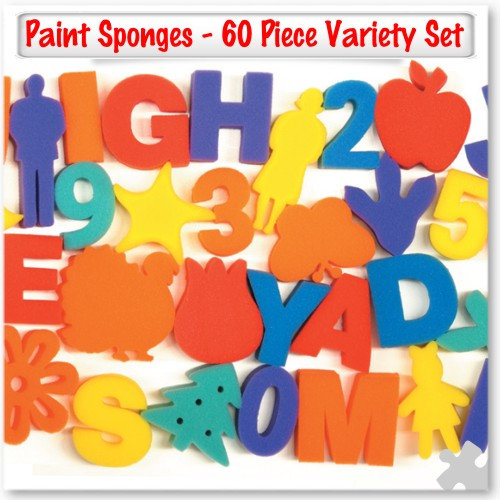 Paint Sponges - 60 Piece Variety Set
