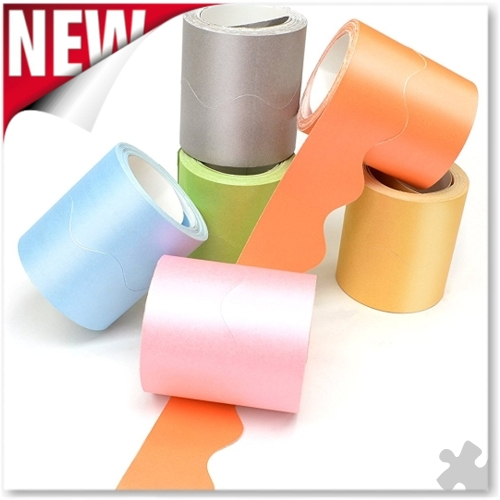Pearlescent Card Border Rolls, 6 Colours
