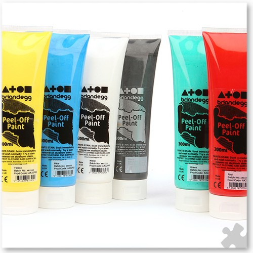 Peel-Off Paint, 6 Pack