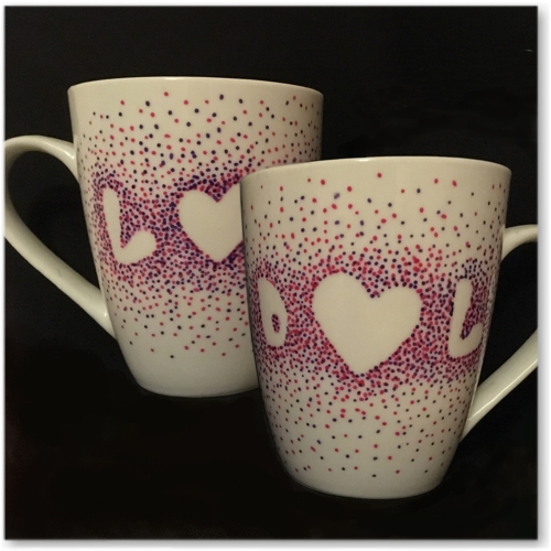 Personalised Hand Decorated Mugs