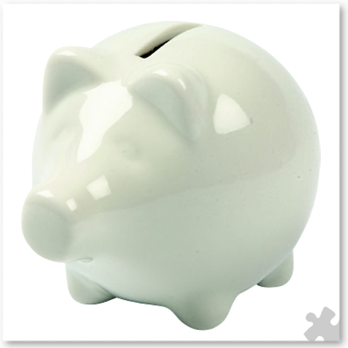 10 Porcelain Piggy Banks