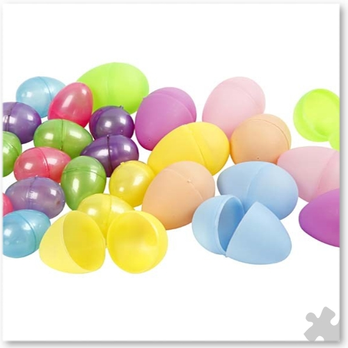 Two-Piece Plastic Eggs, 720 Assorted Colours