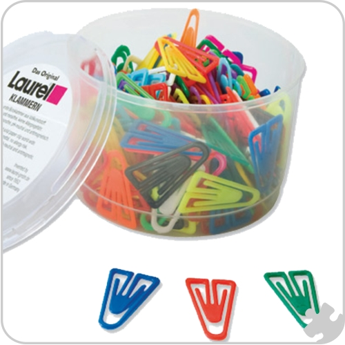 Plastic Paper Clips - 35mm