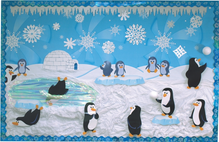 Playful Penguins Display