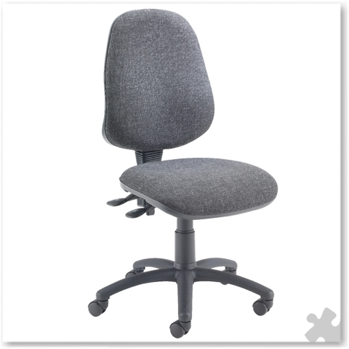 Plus Deluxe High Back Operator Chair in Charcoal