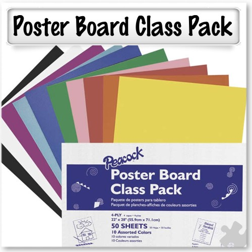 Poster Board in Assorted Colours