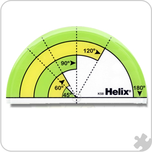 Helix Primary Protractors, 25 Pack