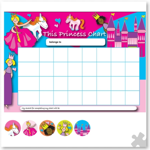 Princess Reward Chart with Stickers