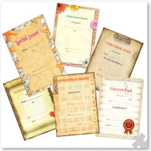 Printable Reward Certificates