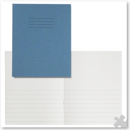 "Project Notebooks 8""x 6½"" Light Blue, Plain/12mm Lined Pages"