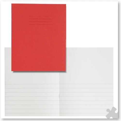 "Project Notebooks 8""x 6½"" Red, Plain/12mm Lined Pages"