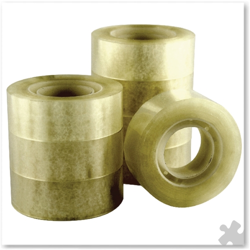 Adhesive Tape - 19mm x 33m, 8 Roll Pack