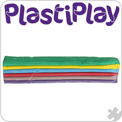 PlastiPlay Rainbow Standard Colours modelling material