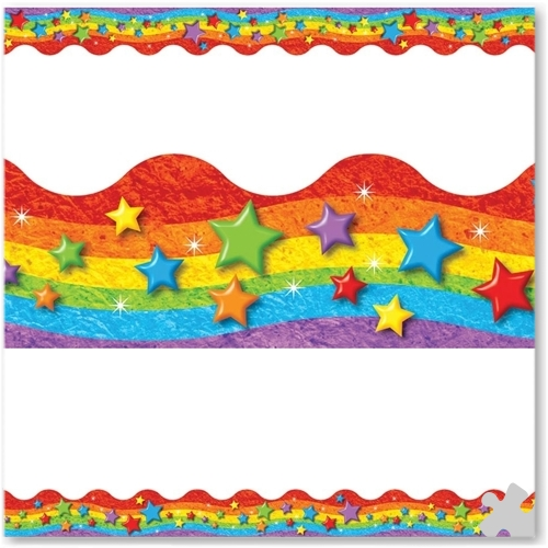 Rainbow Stars Terrific Terrific Trimmer Borders