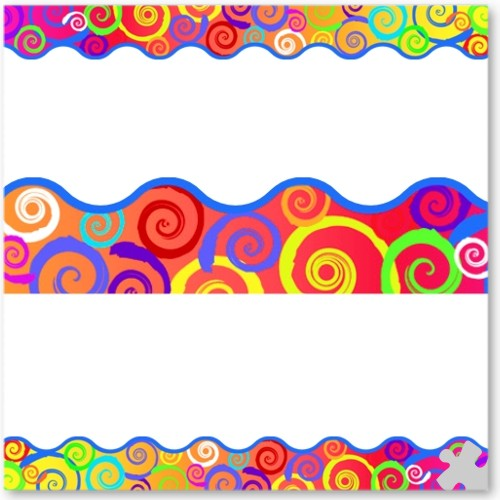 Rainbow Swirls Terrific Trimmer Borders