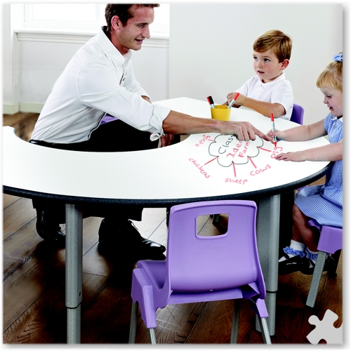 Rainbow Whiteboard Adjustable Table