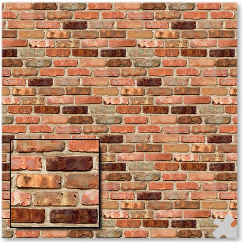 Reclaimed Brick Design Fadeless Display Paper - 3.6m