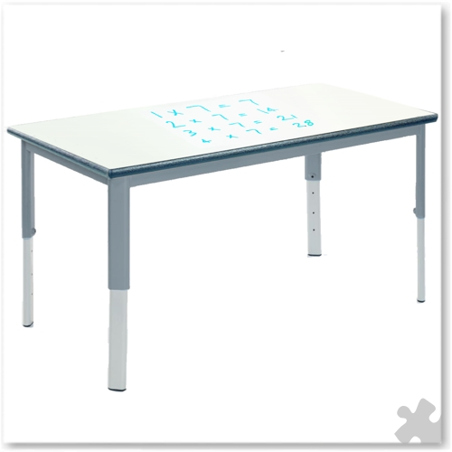 Rectangular Whiteboard Adjustable Table