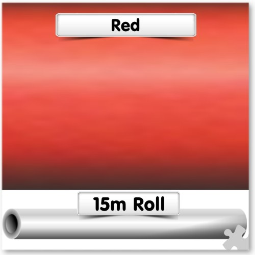 Red Super-Wide Poster Paper 15m Roll