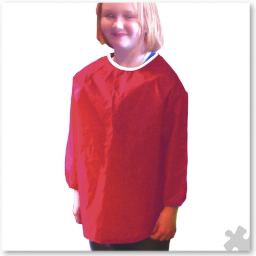 Childrens Nylon 'Raglan' Apron in Red, Ages 6 to 8
