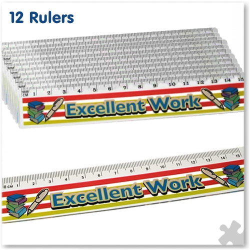 "15cm Rulers ""Excellent Work"""