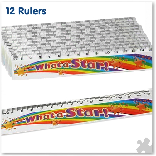 "15cm Ruler ""What A Star"""