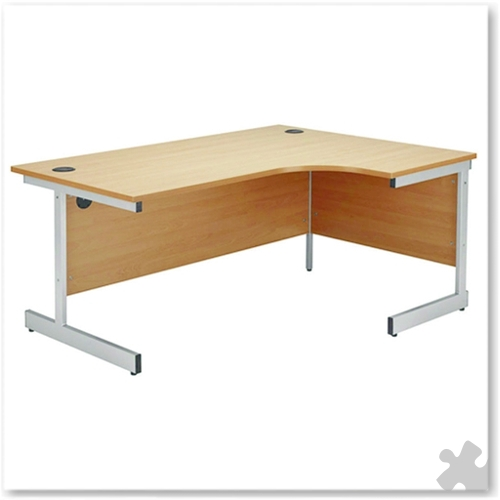 1200mm Right Hand Radial Cantilever Desk in Beech