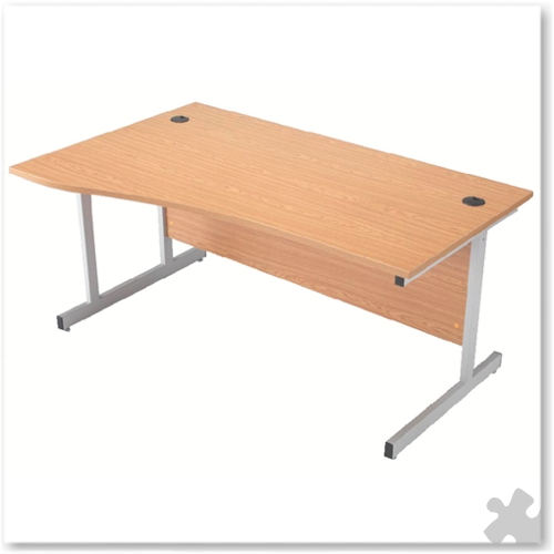 1600mm Righ Hand Wave Desk with Cantilever Legs