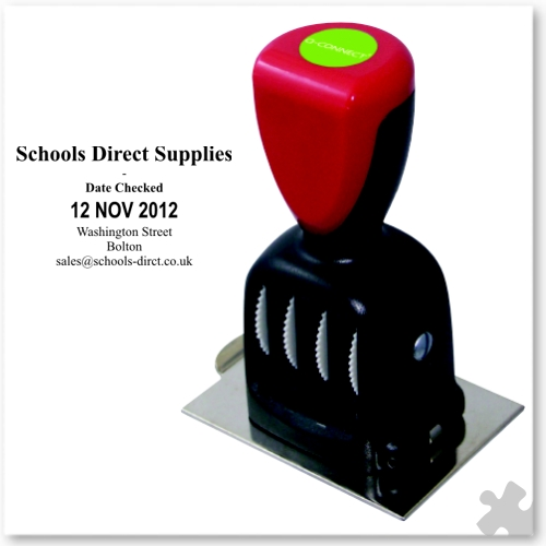 Rubber Date Stamp, 70x50mm