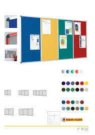 090cm x 180cm Multi-Banked Noticeboards Resist-a-Flame 3 panels