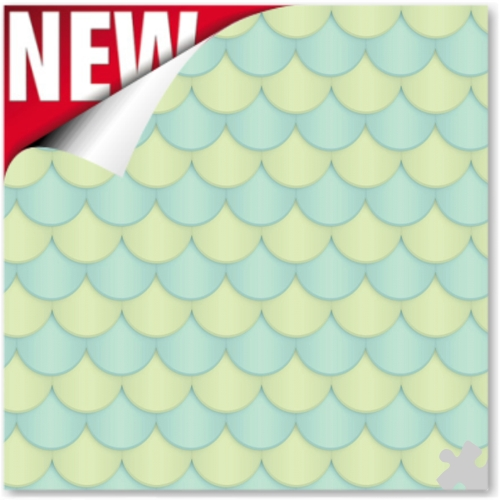 Scallop - Seafoam Ella Bella Backdrop Paper