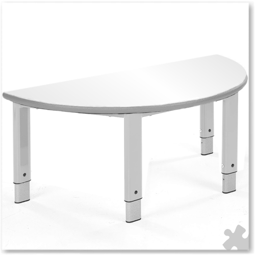 Semi Circular Whiteboard Adjustable Table