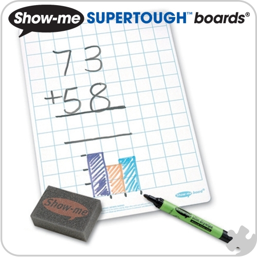Show-Me Supertough Boards, A4 Gridded, 35 Class Pack
