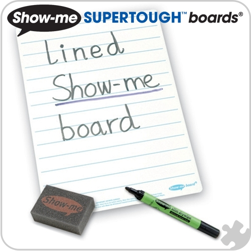Show-Me Supertough Boards, A4 Lined, 35 Class Pack