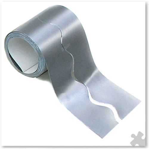 Metallic Silver Fadeless Card Display Border Roll