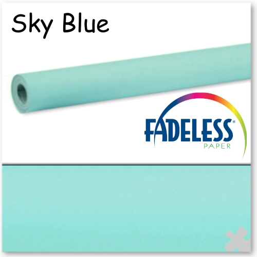 Sky Blue Fadeless Display Paper - 15m Roll
